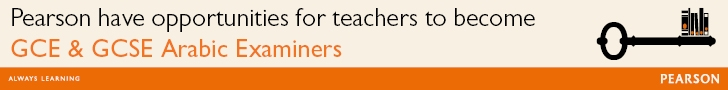 Pearson have opportunities for teachers to become GCE & GCSE Arabic Examiners